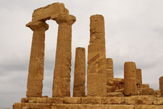 The ruins of Temple of Concordia, Valey of temples, Agrigento, S Stock Photos