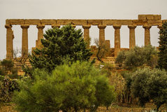 The ruins of Temple of Concordia, Valey of temples, Agrigento, S Royalty Free Stock Photography