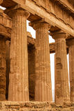 The ruins of Temple of Concordia, Valey of temples, Agrigento, S Royalty Free Stock Photos