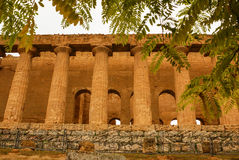 The ruins of Temple of Concordia, Valey of temples, Agrigento, S Stock Photography