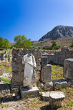 Ruins of temple in Corinth, Greece. Archaeology background Royalty Free Stock Photo