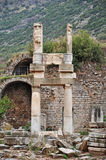 The ruins of Temple of Domitian at Ephesus Royalty Free Stock Photography
