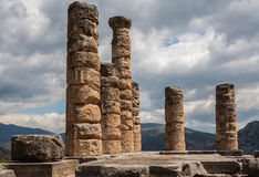 Delphi Greece Temple Stock Photography