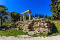 Ruins of temple E in Ancient Corinth Stock Photos