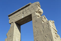 The ruins of the temple of the goddess of love in Dendera. Luxor. Egypt Royalty Free Stock Photo