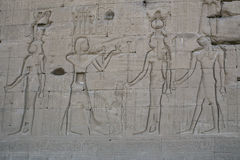 The ruins of the temple of the goddess of love in Dendera. Luxor. Egypt Royalty Free Stock Photos