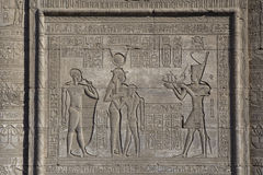 The ruins of the temple of the goddess of love in Dendera. Luxor. Egypt Royalty Free Stock Images