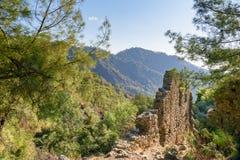Ruins of temple of Hephaestus. Chimaera Mount. Turkey Stock Photos