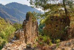 Ruins of temple of Hephaestus. Chimaera Mount. Turkey Royalty Free Stock Image