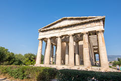 Ruins of the Temple of Hephaestus near the ancient Agora & x28;Forum& x29; Royalty Free Stock Images