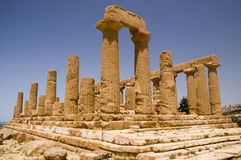 The ruins of Temple of Hera (Juno) Lacinia. Valey of temples, Agrigento, Sicily, Italy Stock Images