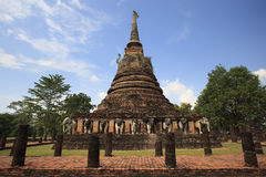The ruins of the temple in historical park Royalty Free Stock Photo