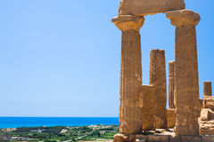 Ruins of Temple of Juno Hera in Agrigento Stock Images