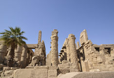 Ruins at the temple of Karnak Stock Photo