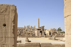 Ruins at the temple of Karnak Stock Photos