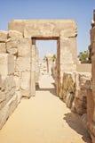 Ruins at temple of Karnak Stock Image