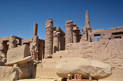 The ruins of the temple of Karnak. Luxor. Egypt. royalty free stock photo