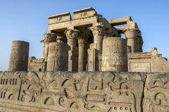 The ruins of the Temple of Kom Ombo located 65 km south of Edfu in Egypt. Royalty Free Stock Images