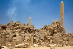 Ruins of the Temple in Luxor Royalty Free Stock Photography