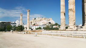 Ruins of Temple of Olympian Zeus in Athens Royalty Free Stock Photography