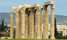 Ruins at the Temple of Olympian Zeus Royalty Free Stock Photography