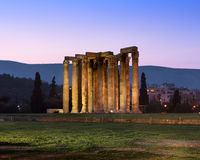 Ruins of Temple of Olympian Zeus in the Morning, Athens, Greece Stock Photography