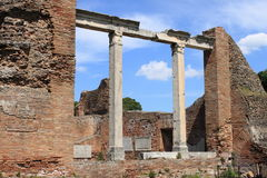 Ruins of a temple in Ostia Antica Stock Image