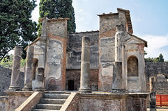 The Ruins Temple in Pompeii Stock Image
