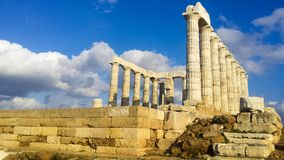 Ruins from the temple of Poseidon royalty free stock photo