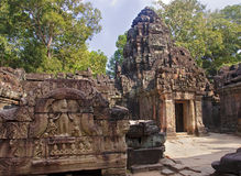 The ruins of the temple of Preah Khan Royalty Free Stock Images