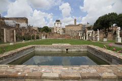 Ruins of temple, Roman Forum, Rome Stock Images