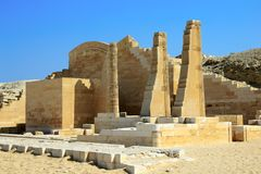 The ruins of the temple at Saqqara Royalty Free Stock Photography