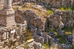Ruins Temple of Serapis in Jerusalem. Ruins of the Temple of Serapis in Jerusalem Royalty Free Stock Image