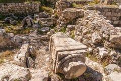 Ruins Temple of Serapis in Jerusalem. Ruins of the Temple of Serapis in Jerusalem Stock Photo