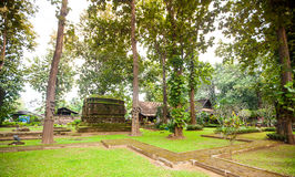 Ruins of temple in Sop Ruak, Northern Thailand Royalty Free Stock Photography