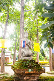 Ruins of temple in Sop Ruak, Northern Thailand Stock Photo