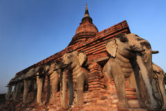 The ruins of the temple.Sukhothai.Thailan Stock Images