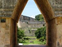Ruins Temple Uxmal, Yucatan, Mexico stock photography