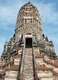 Ruins the temple of Wat Chai Watthanaram in Ayutthaya near Bangkok, Thailand Stock Photography
