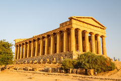 Ruins of the temples in the ancient city of Agrigento, Sicily Royalty Free Stock Photos