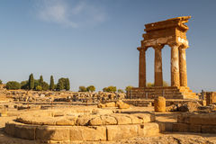 Ruins of the temples in the ancient city of Agrigento, Sicily Royalty Free Stock Images