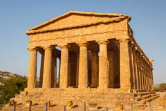 Ruins of the temples in the ancient city of Agrigento, Sicily Royalty Free Stock Photography