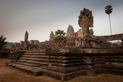 Ruins of the temples, Angkor, Cambodia Royalty Free Stock Photos