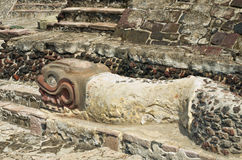 Ruins of Templo Mayor of Tenochtitlan. Mexico City. Royalty Free Stock Photos