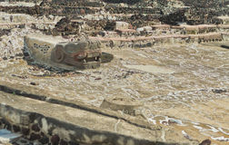 Ruins of Templo Mayor of Tenochtitlan. Mexico City. Royalty Free Stock Photography