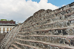 Ruins of Templo Mayor of Tenochtitlan. Mexico City. Stock Images