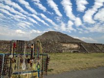 The ruins  of Teotihuacan Mexico Royalty Free Stock Photo