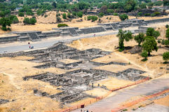 Ruins of Teotihuacan Pyramids, Mexico Stock Photos