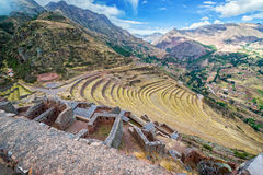 Ruins and Terraces Stock Image