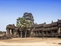 Ruins in the territory of the main Angkor Wat Temple complex, Siem reap, Cambodia Royalty Free Stock Photography